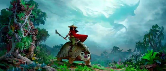Concept art de l'univers de Raya de Disney