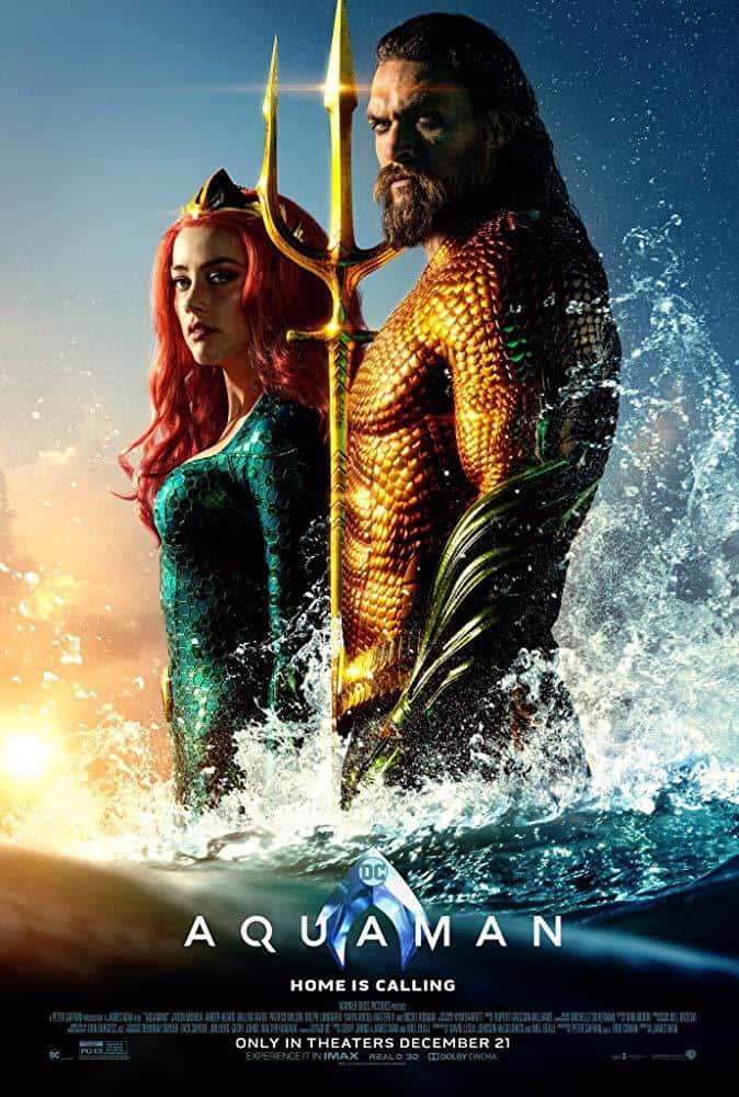 Affiche du premier Aquaman trouvée sur IMDb