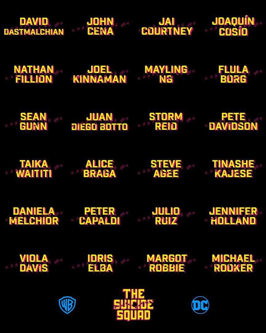 Tous les noms du casting pour The Suicide Squad