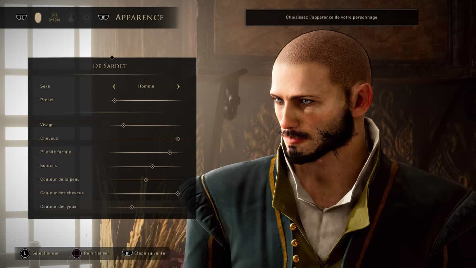 Création de personnage Greedfall
