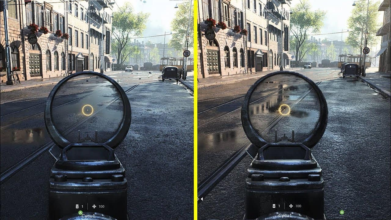 Ray-Tracing off/on