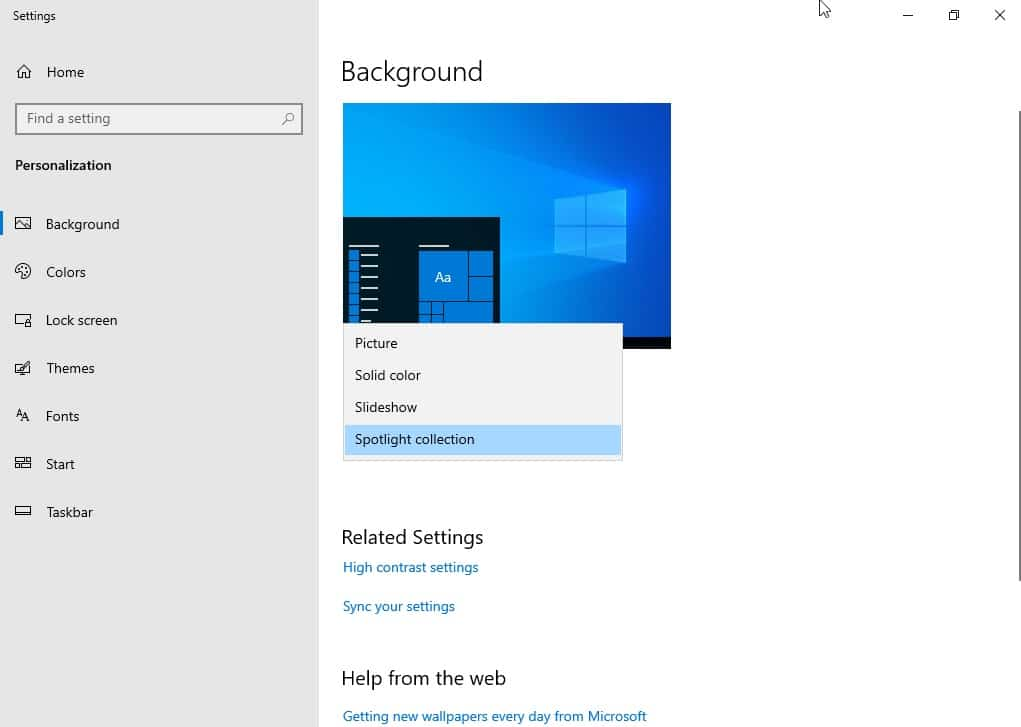 Windows-10-fond-ecran-automatique-spotlight-collection