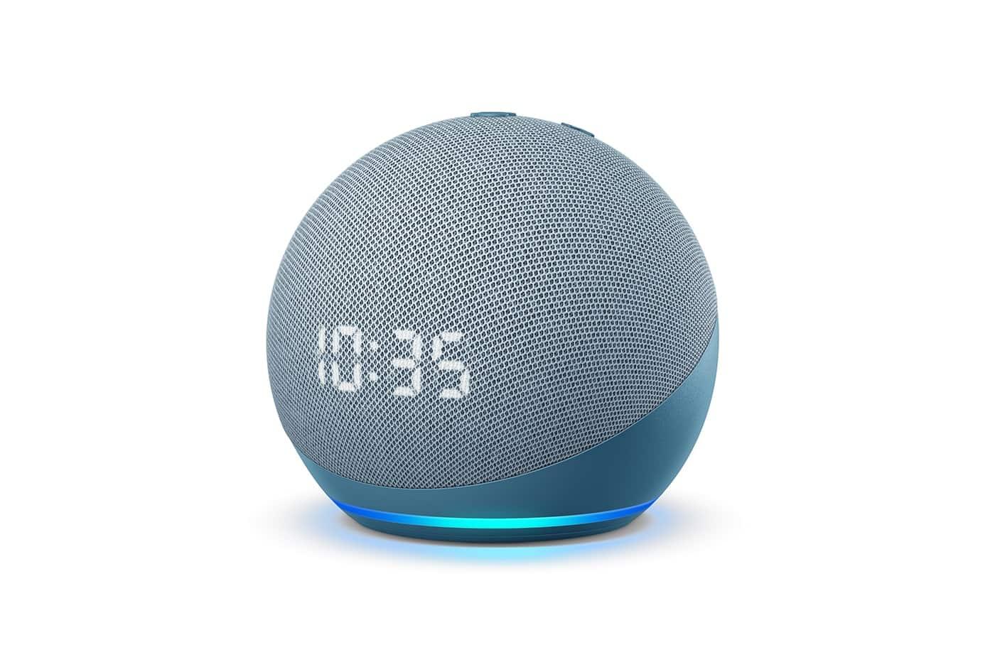 Echo Dot Avec Horloge Bleu Gris 1