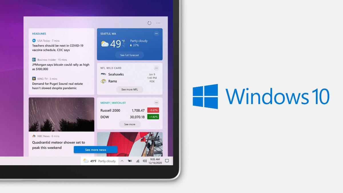 windows 10 widget barre des taches