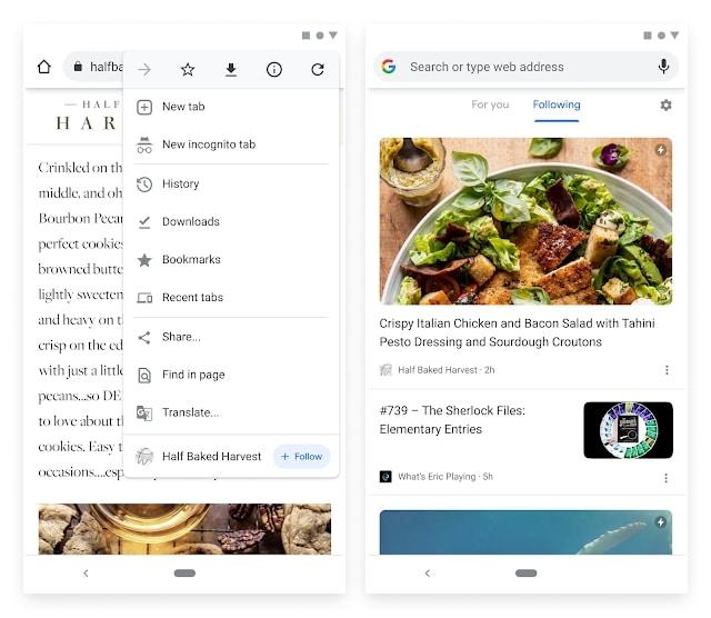 Ajouter un flux RSS sur Google Chrome Canary.