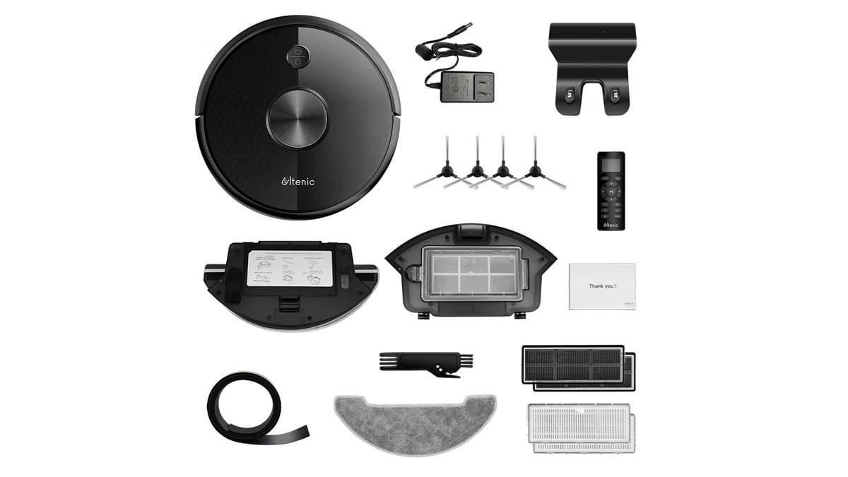 Les accessoires fournis avec l'Ultenic D5s Pro