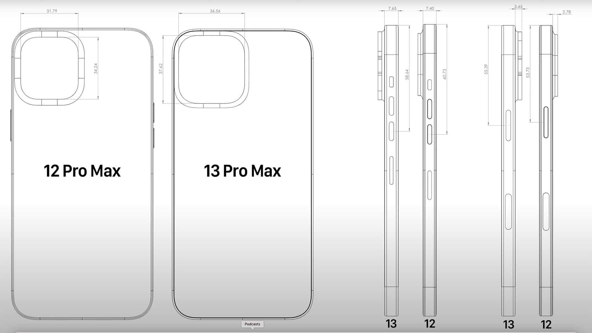 L'iPhone 13 Pro Max ainsi que les autres modèles seraient plus épais que la série des iPhone 12.