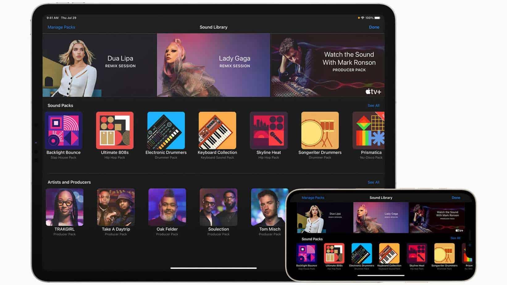 Garageband se bonifie grâce à la nouvelle mise à jour d'Apple.