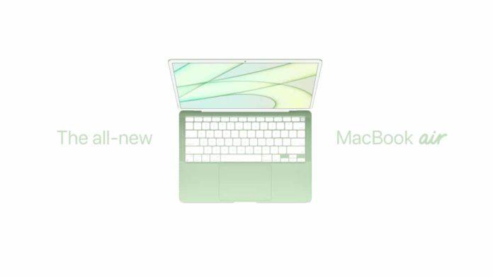 MacBook Air Coloré et Apple M2 pour MacBook Pro en 2021 ou 2022.