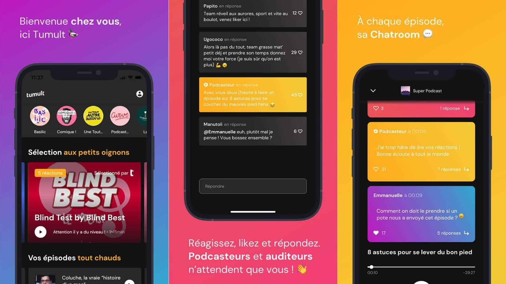 Tumult propose une application iOS et Android très bien réalisée et intuitive.