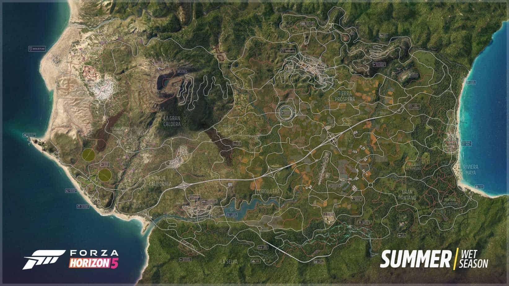 La nouvelle carte de Forza Horizon 5