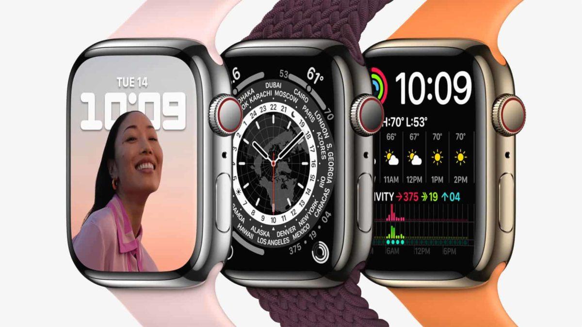 Un document interne a fuité sur internet avec des caractéristiques de l'Apple Watch Series 7