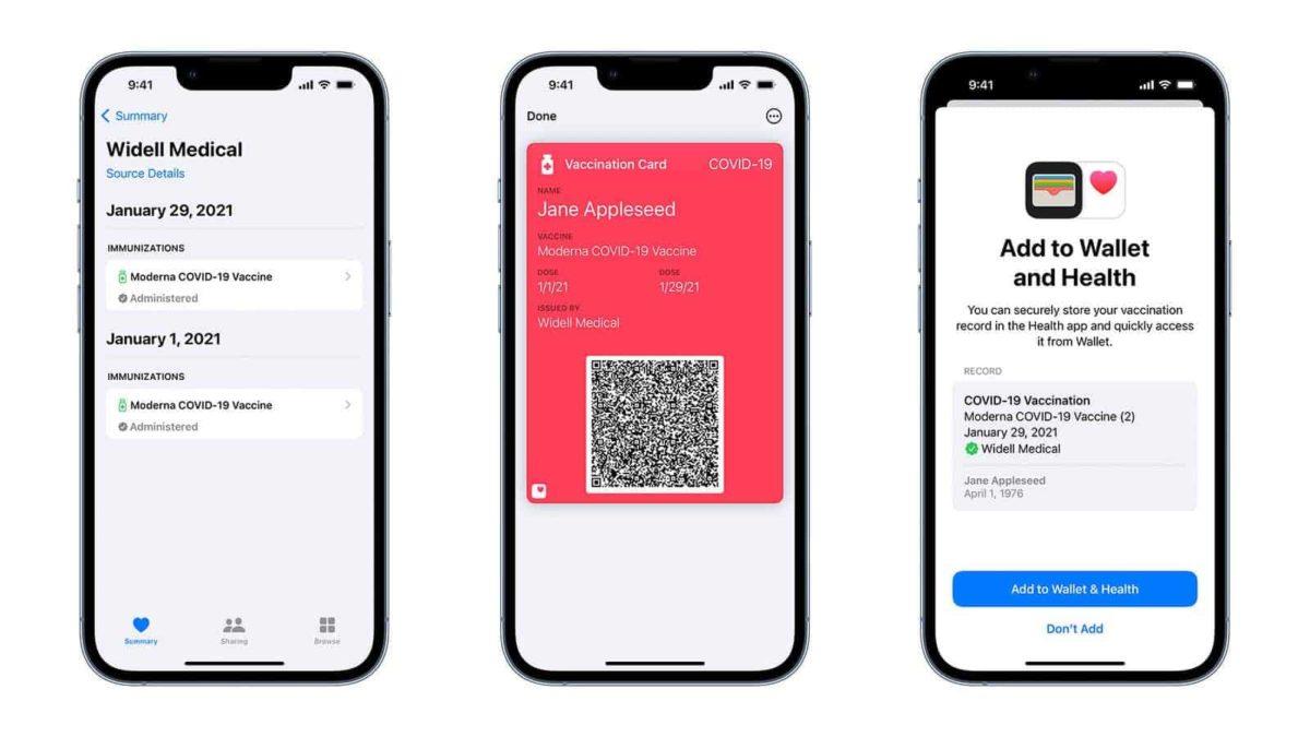 En Amérique, les utilisateurs d'iPhone pourront directement installer le pass sanitaire COVID-19 de façon native grâce à iOS 15.