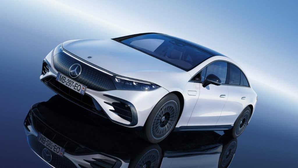 Mercedes-Benz EQS 450+ blanche