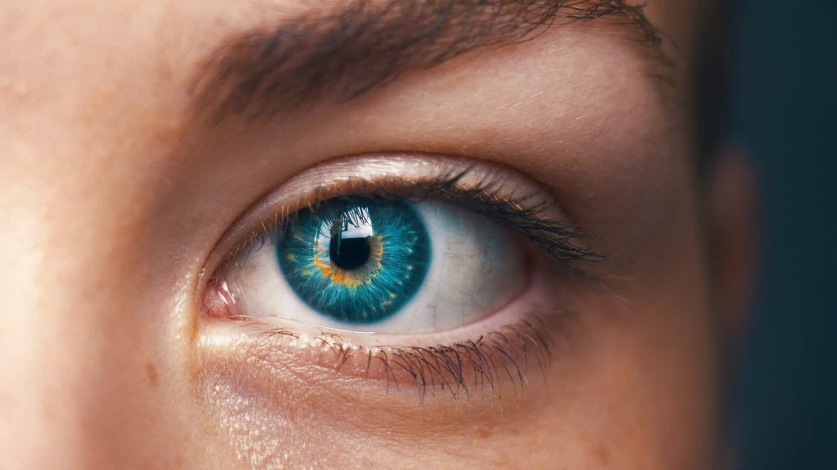 L'iPhone 13 Pro Max est utilisé par un ophtalmo pour regarder les yeux avec le mode macro.