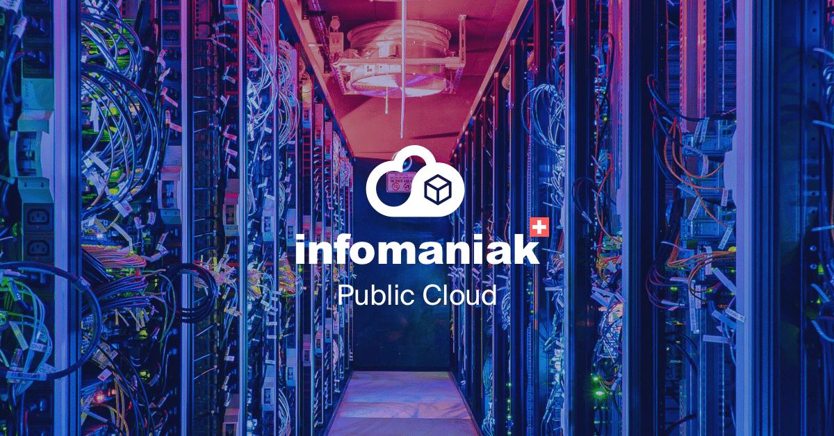 Public Cloud, la nouvelle offre cloud d'Infomaniak entre en concurrence avec celles de Google, Microsoft et Amazon.