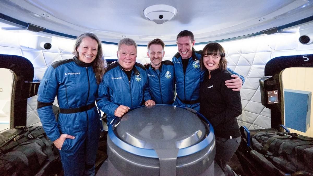 Blue Origin réussi son nouveau vol vers l'espace en compagnie de William Shatner.